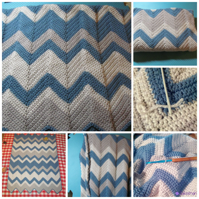 A Couple Of Crochet Chevron Baby Blankets Knit Crush
