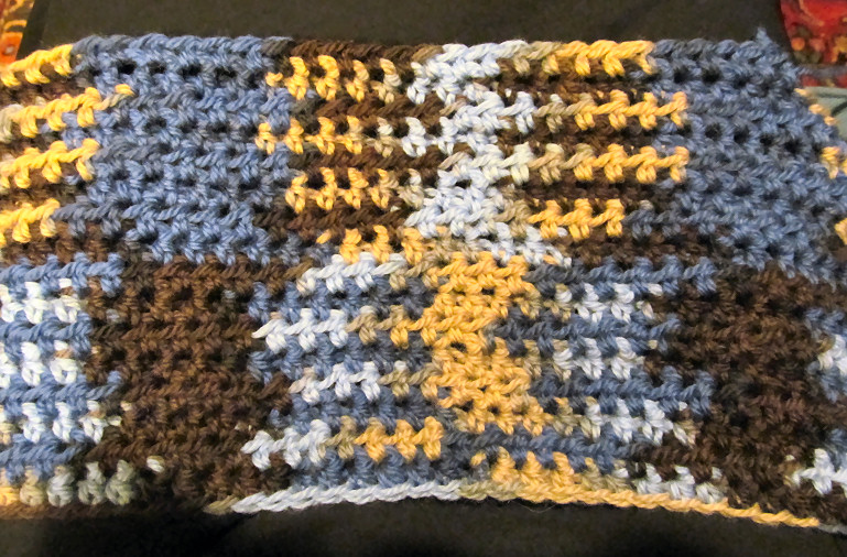 An Example Of Color Pooling When Crocheting With Variegated Yarn Make A Felted Area Rug