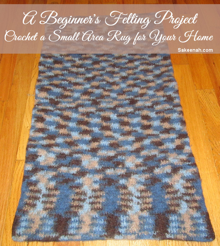 How To Make A Crochet Felted Wool Rug Knit Crush