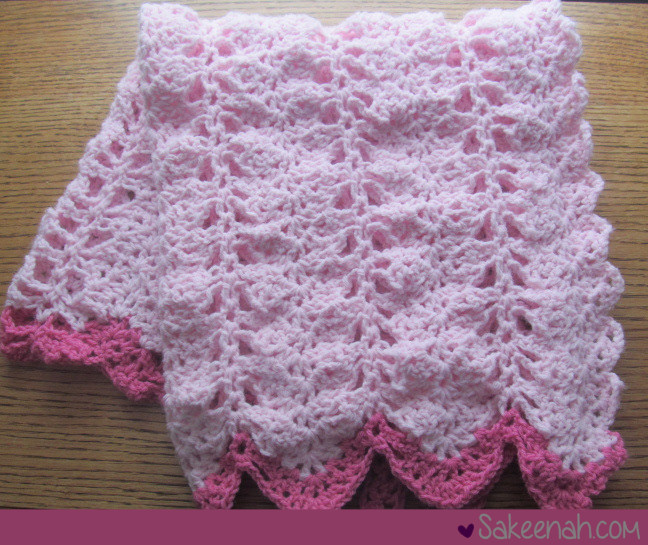 A Crocheted Pink Baby Girl Blanket Knit Crush