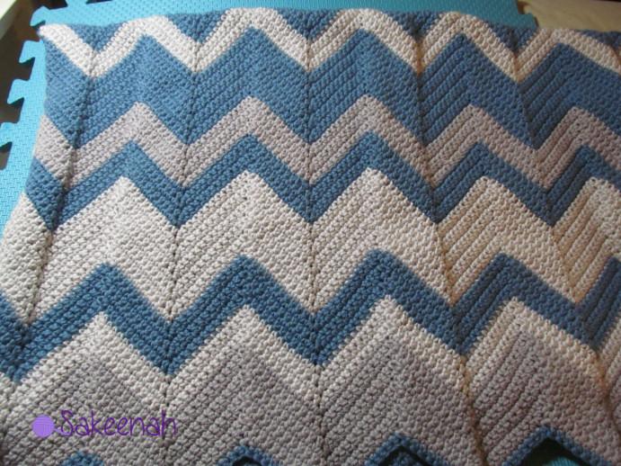 Crochet Chevron Baby Blankets